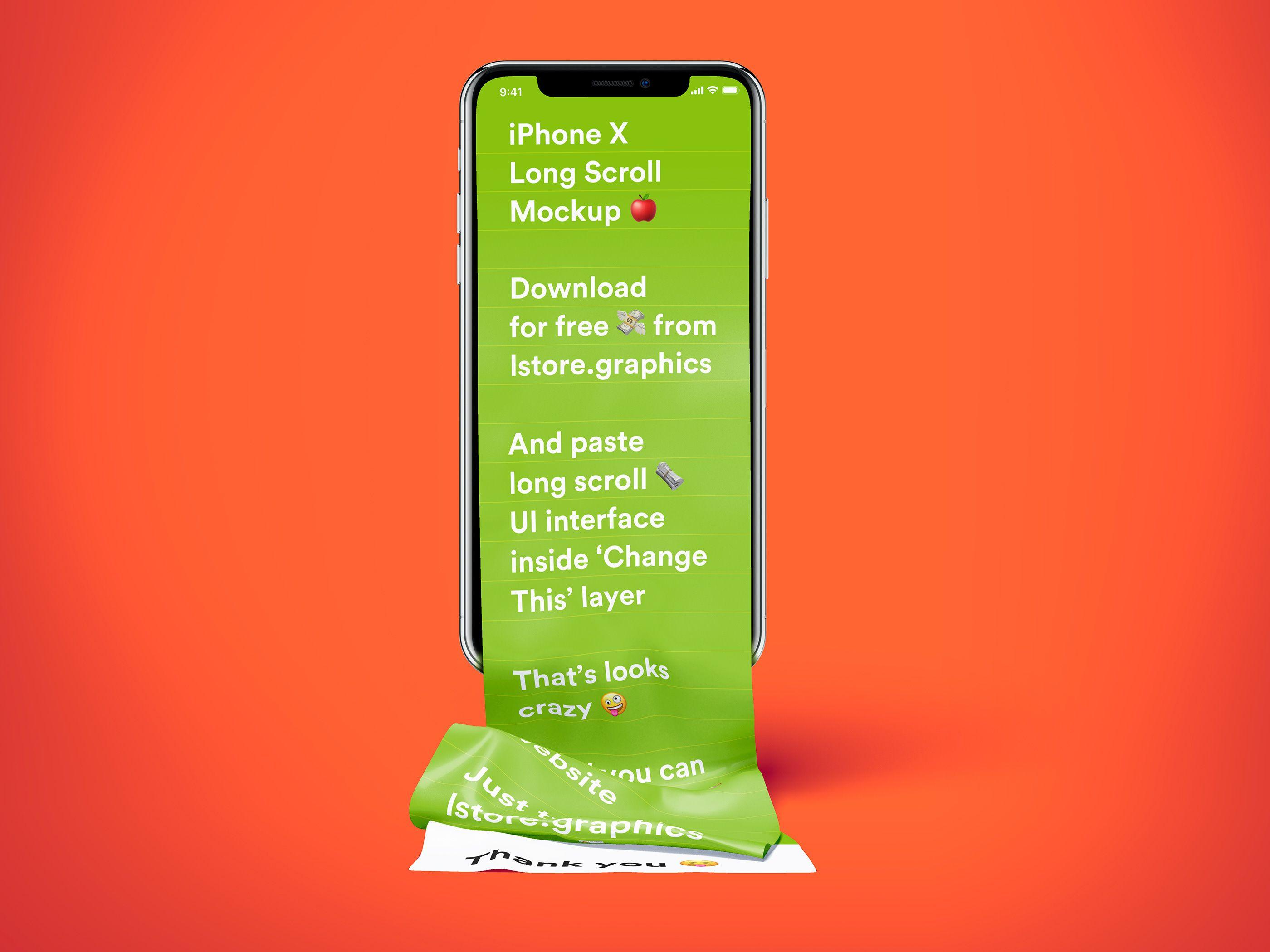 Free Iphone Long Scroll Fabric Mockup On Behance Mockup Iphone Mockup Psd
