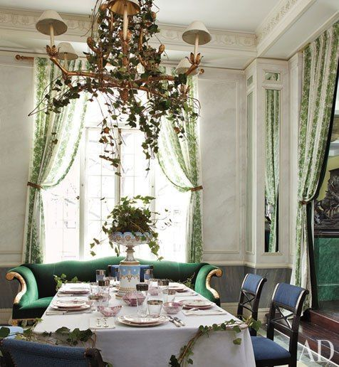 jean paul beaujard | Jean-Paul Beaujard's NYC apartment: curtains are vintage fabric by ...