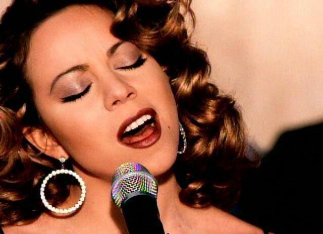 Mariah Carey songs eclipsed by singers cleavage-cramming