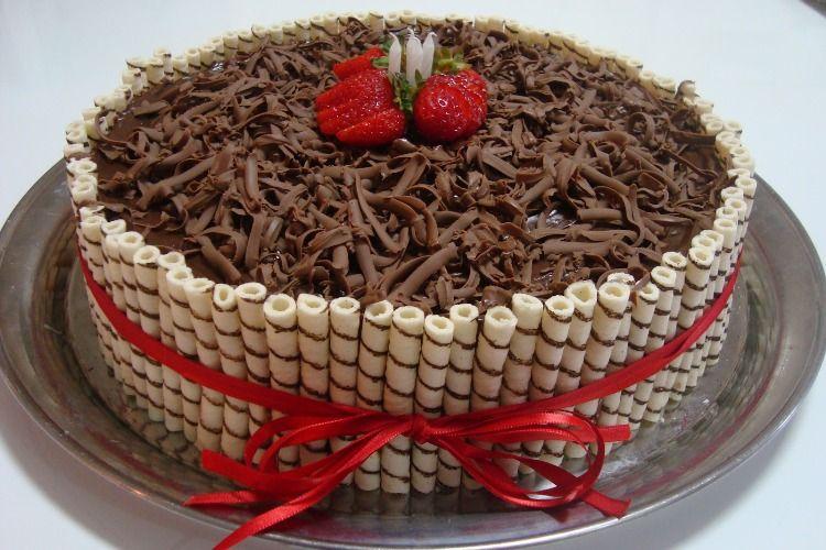 Bolo De Chocolate Aniversario Pesquisa Google Bolos De