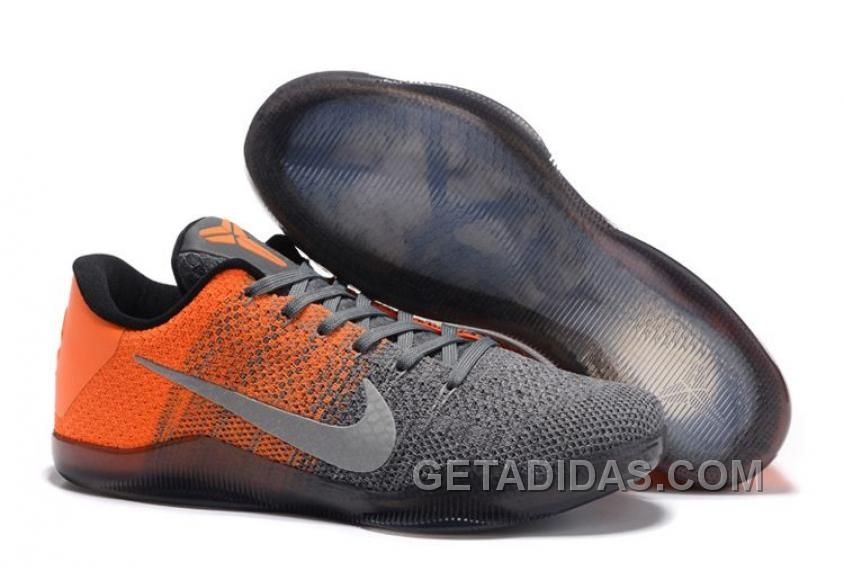 Nike Kobe 11 Elite Low Easter Grey Orange For Sale Online New