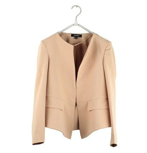 2012 ladies' nude navy color little suit jacket long sleeve autumn clothing fashion coat korean blazer free shipping $26.99  Want a suit in this color, also shoes..........