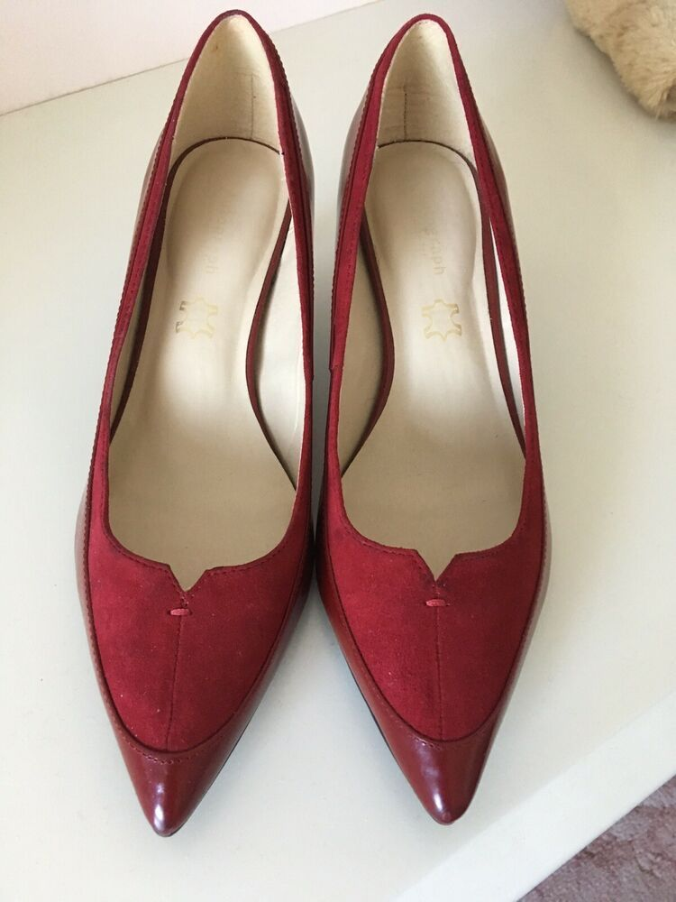2b4a9fd3401 M   S AUTOGRAPH RED SHOES SIZE 6 WIDE FIT - Kitten Heels from Ebay ...