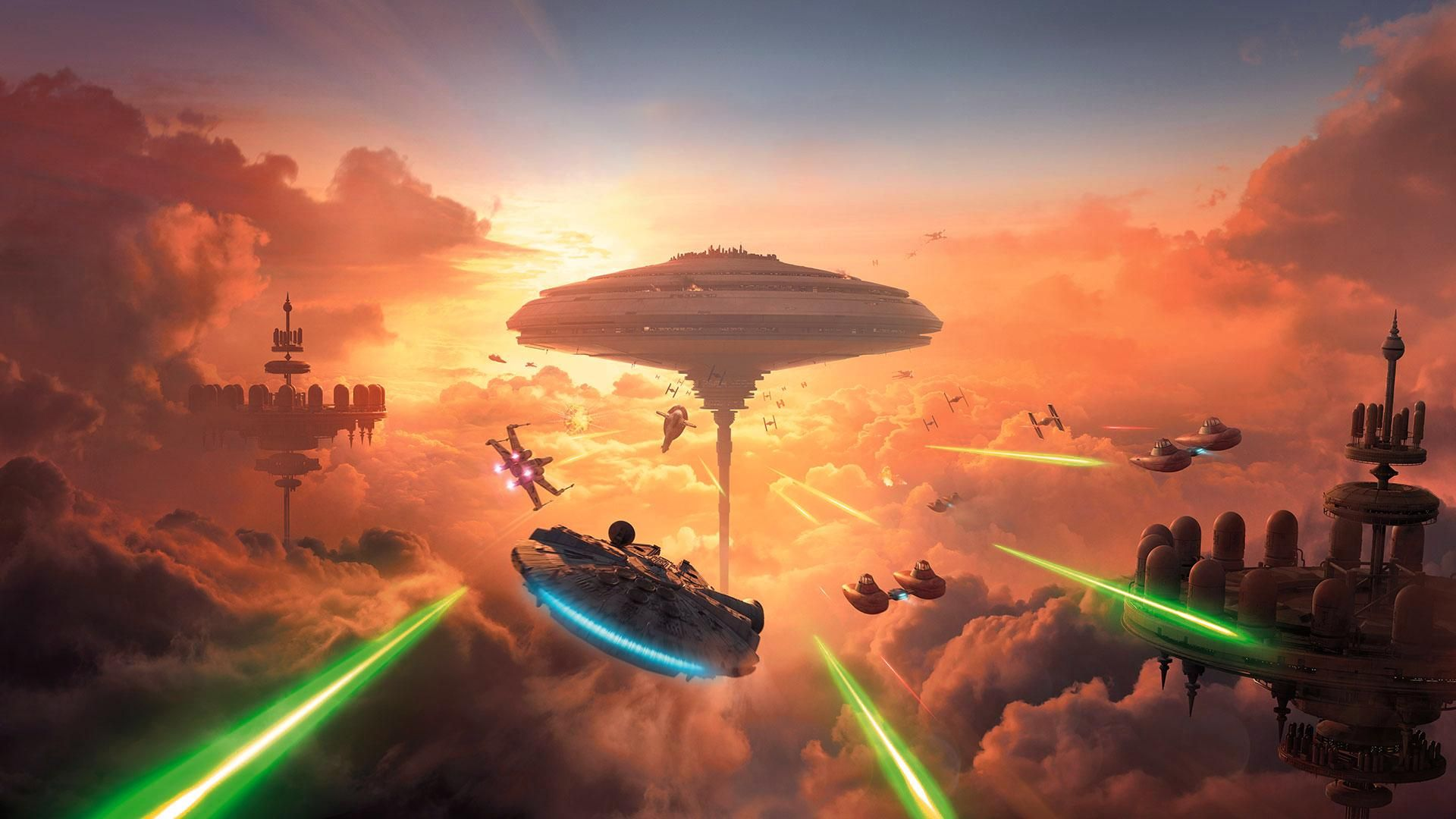 Star Wars Battlefront Bespin Wallpaper 1920x1080 Star Wars Games Cloud City Battlefront