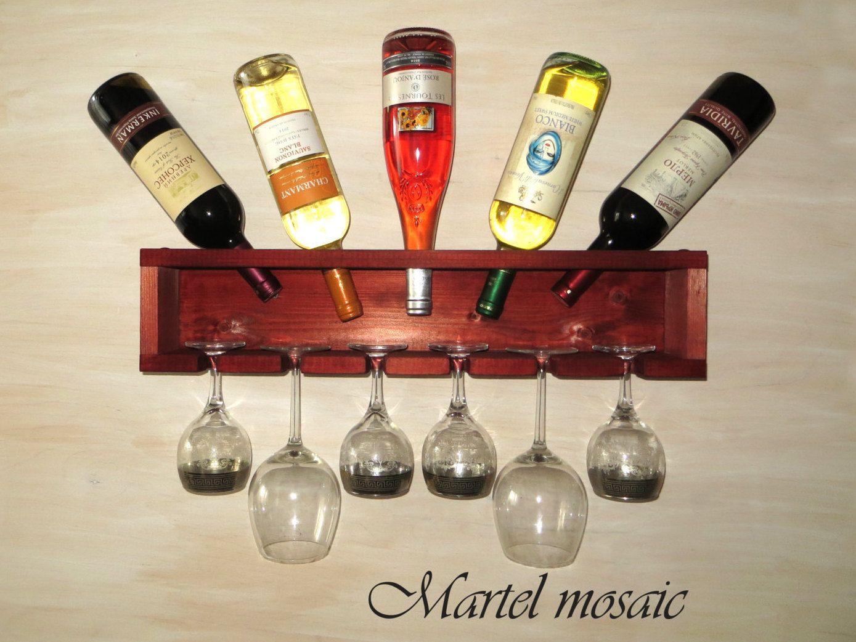 Wooden Wine Shelf Wall Wine Rack Wooden Glass Bottle Etsy Wooden Wine Rack Wine Rack Wall Wine Shelves