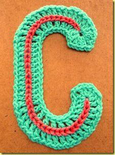 gehaakte letter C