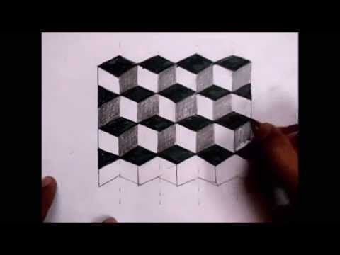 How To Draw An Optical Illusion Easy Youtube In 2019