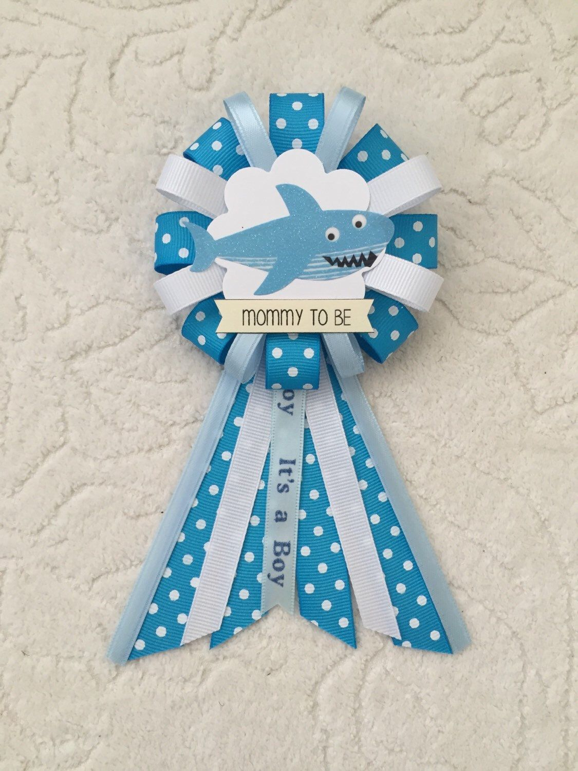Mommy To Be Ribbon Corsage For Baby Shower It S A Boy Under
