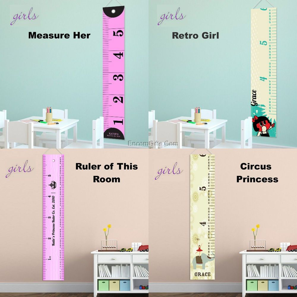 Kids childs growth chart height measuring wall canvas banner kids childs growth chart height measuring wall canvas banner personalized w name nvjuhfo Image collections