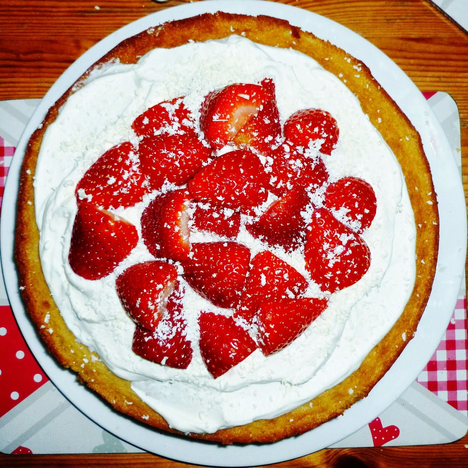 Strawberries and Cream White Chocolate Cake