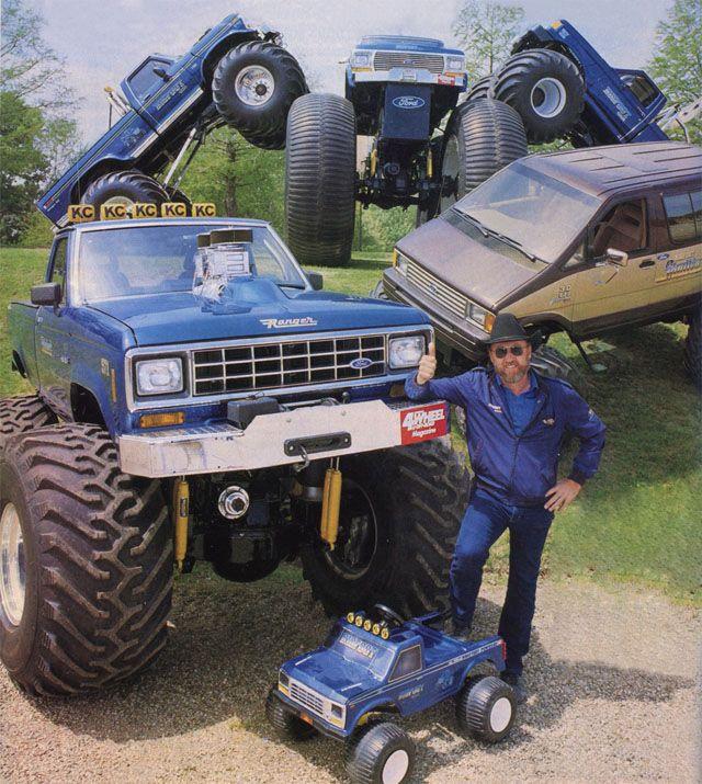 Big Foot Monster Truck Poster Featuring Owner Creator Bob Chandler Monster Trucks Ford Trucks Jacked Up Trucks Bigfoot monster truck wallpaper