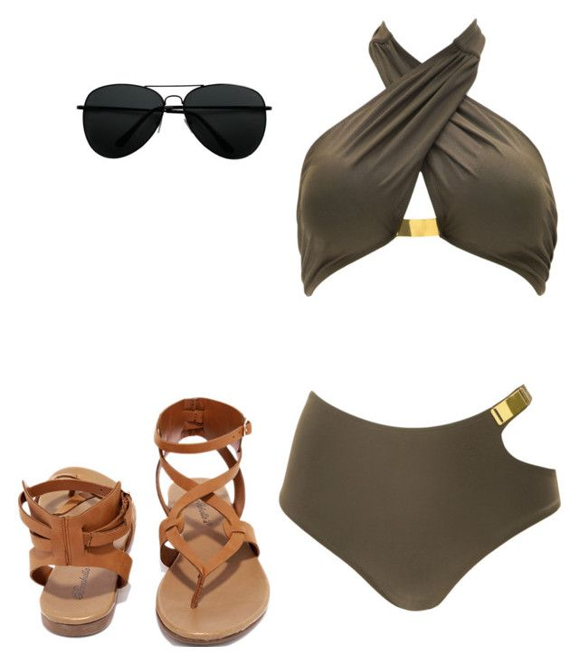 """""""Untitled #1"""" by aspen-hart ❤ liked on Polyvore featuring Norma Kamali and Breckelle's"""