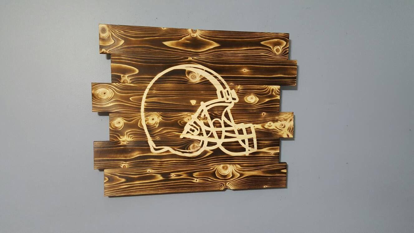Football helmet football decor rustic wall art add a name free