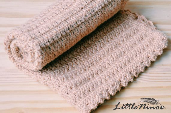SALE Lovey Blanket crochet baby blanket Security Blanket