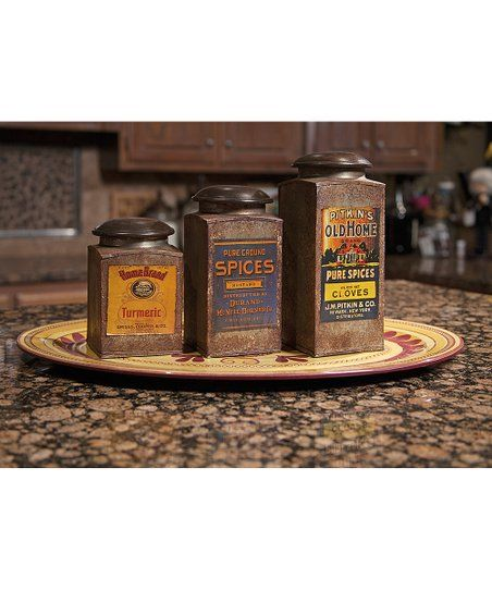 I LOVE These Vintage Label Canisters! #kitchen #ad