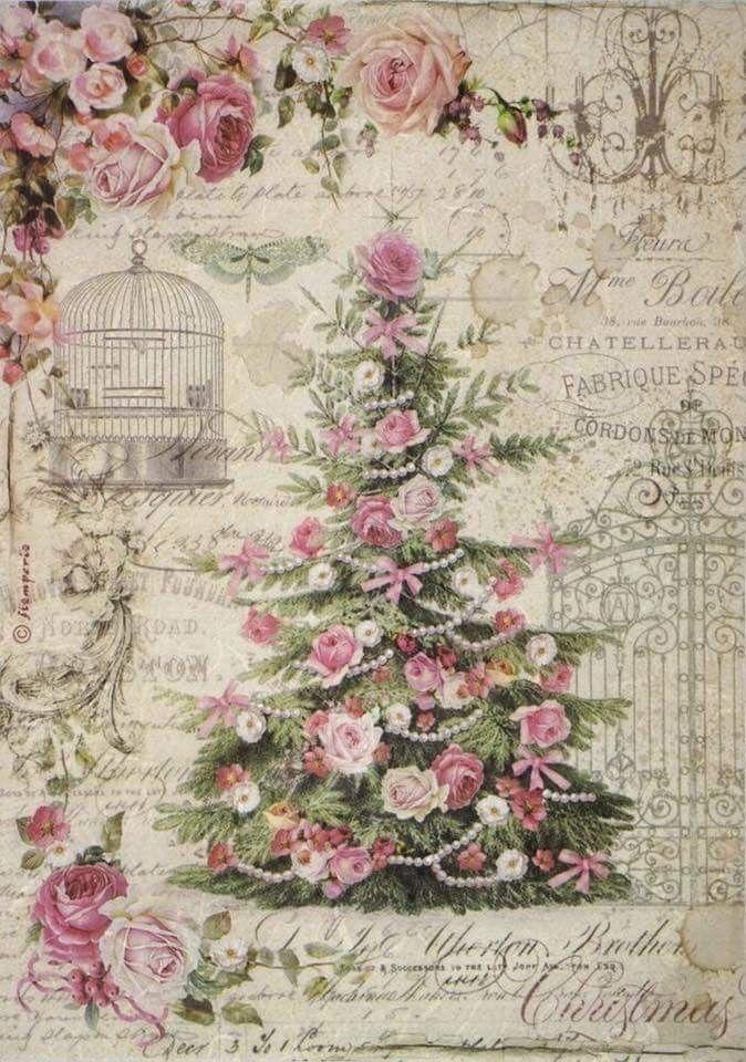 Carta Decoupage Shabby Chic.Pin Di Miss Shabby Chic Su Vintage Images Immagini Di Natale