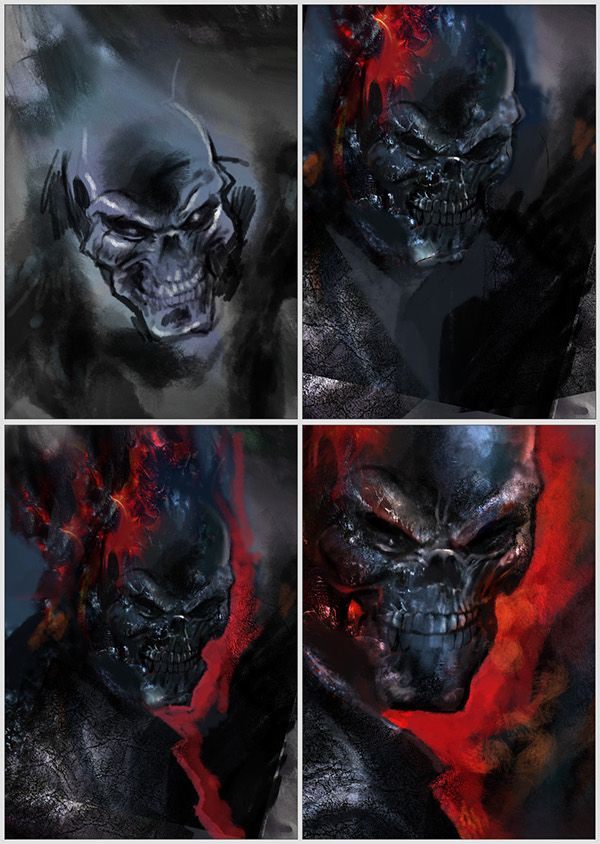 Ghost Rider Digital Art by Greg Reed Brown  |Ghost Rider Digital Painting Photoshop