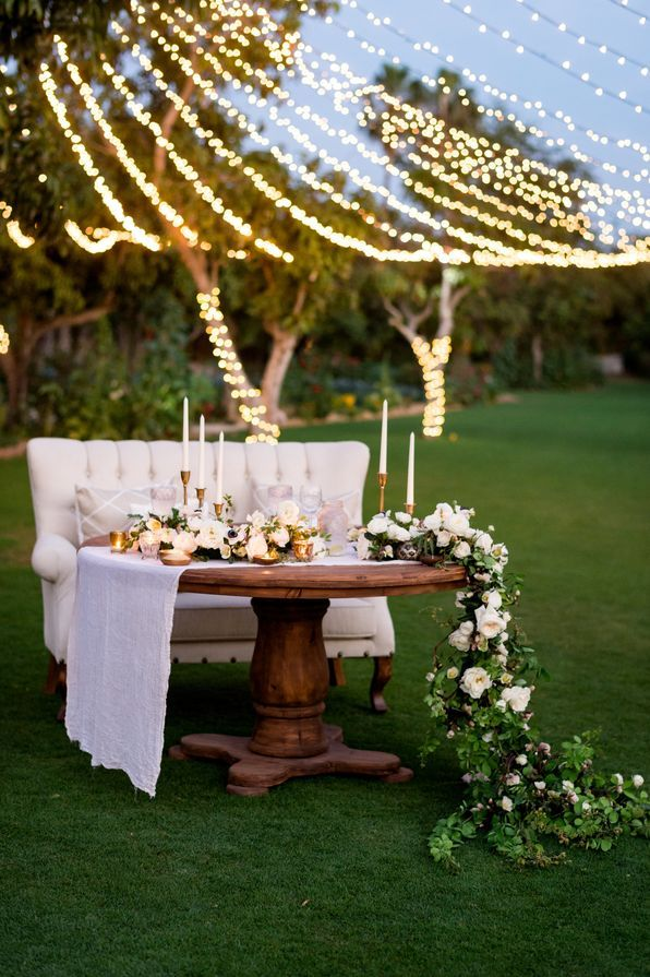 Romantic Garden Rose Garland and TaperCandleTopped