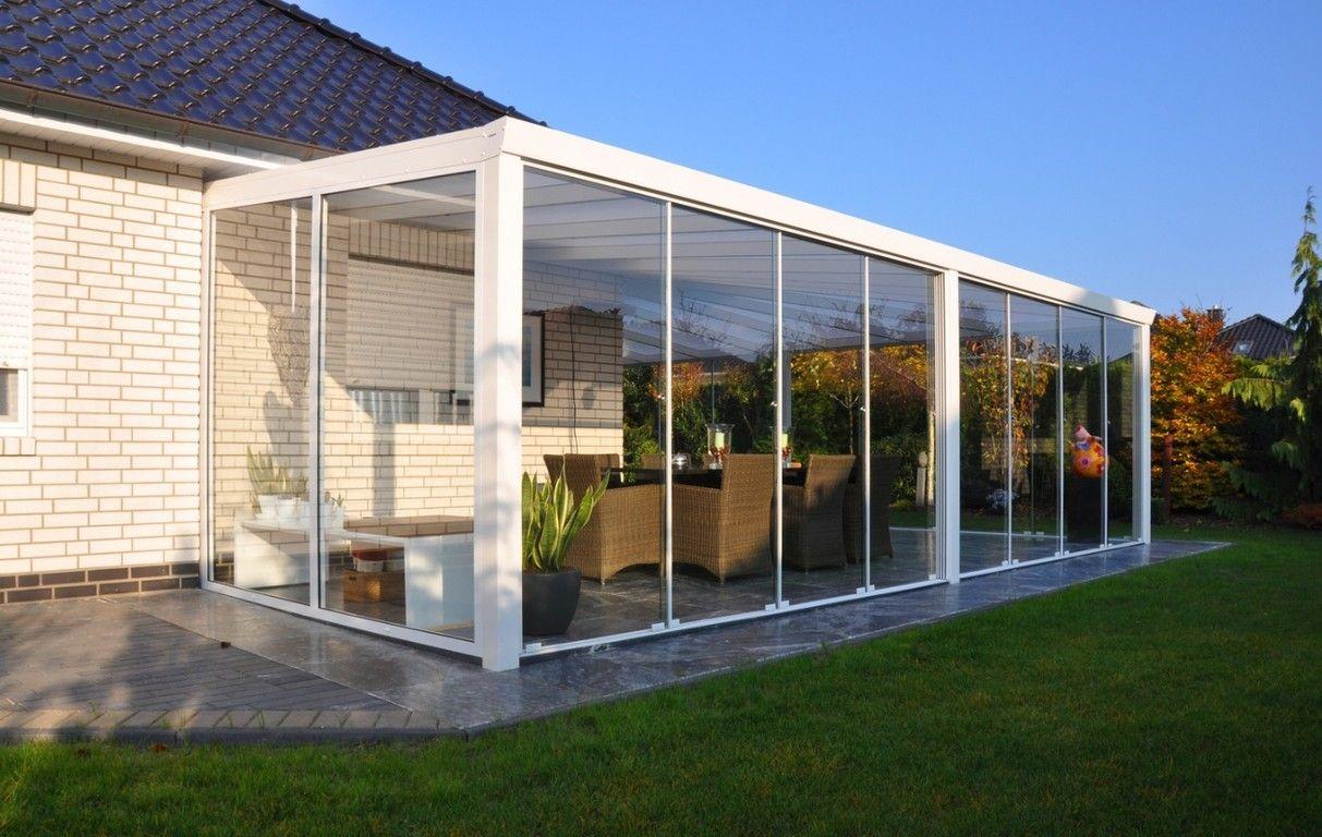 Veranda completa in alluminio tutta vetro con laterali for Suggerimenti per la casa