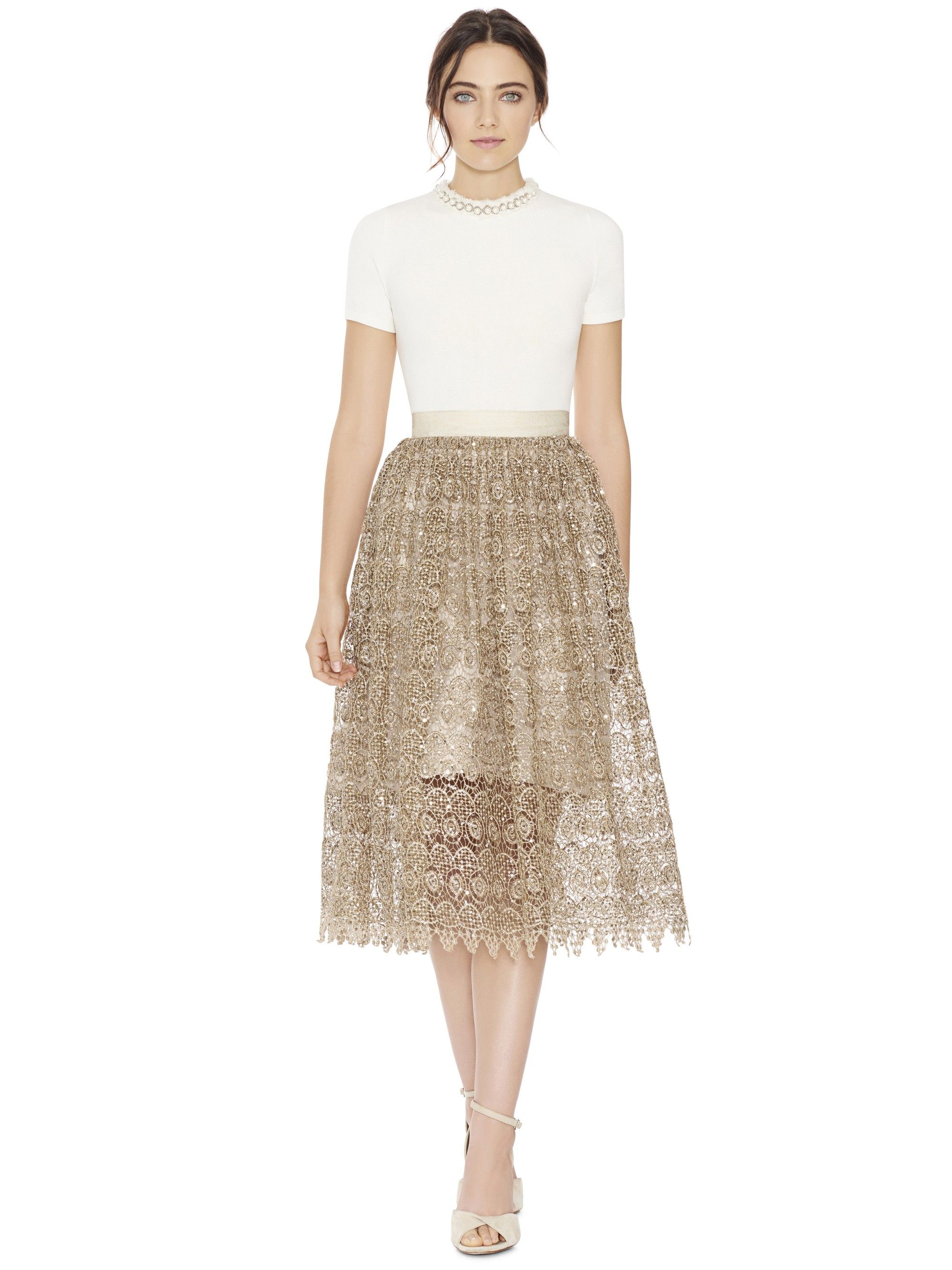 Alice and olivia almira midlength party skirt gold alice and olivia almira midlength party skirt gold aliceandolivia cloth ombrellifo Images