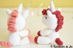 Amigurumi Unicornio Tutorial : O recuncho de jei patrón traducido unicornio amigurumi vibemai