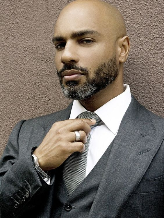 Pin By Marc Bordet On EBONY Pinterest Beard Styles - Facial hair styles bald guys