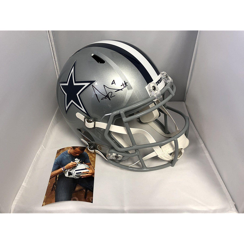 2f08fee61e8 Dak Prescott Autographed Signed Dallas Cowboys Full Size Speed Helmet Dak  Prescott Hologram with COA  SportsCollectibles