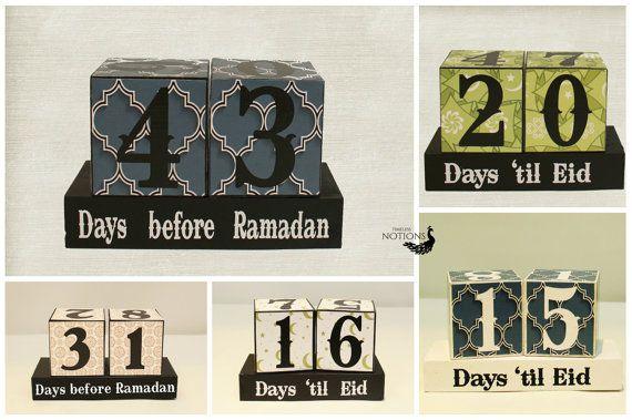 Countdown to Ramadan Days Until Eid Wooden by TimelessNotion