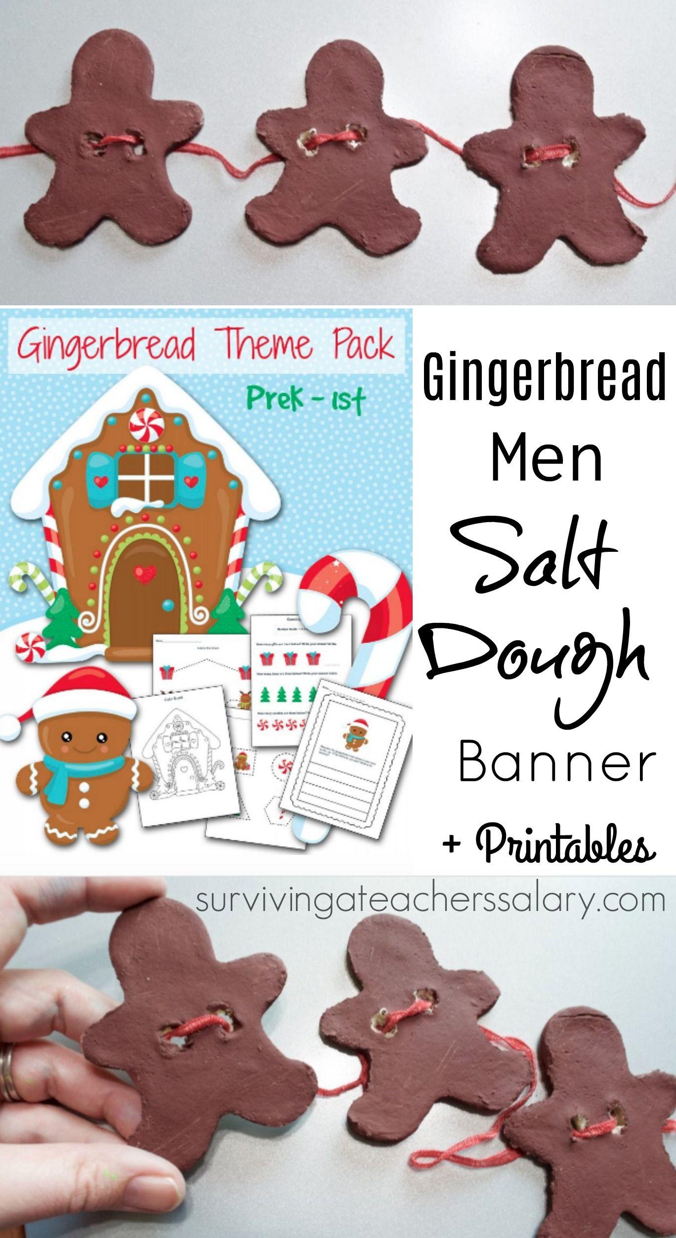Salt Dough Recipe Gingerbread Men Banner Sensory Decor