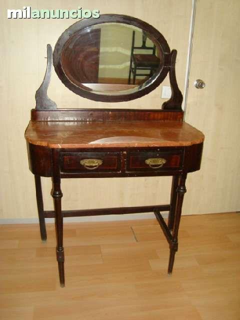 Precioso tocador antiguo de 1920 de madera maciza y sobre - Cajones de madera antiguos ...