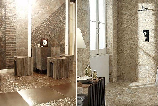 Amazing metallic style tiles tile style pinterest la for Paredes decoradas com ceramicas rusticas