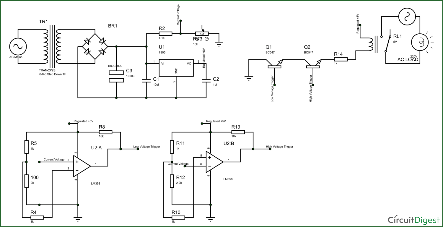 Electronic Circuit Breaker Schematic Diagram Circuits Transistor Fm Tracking Transmitter