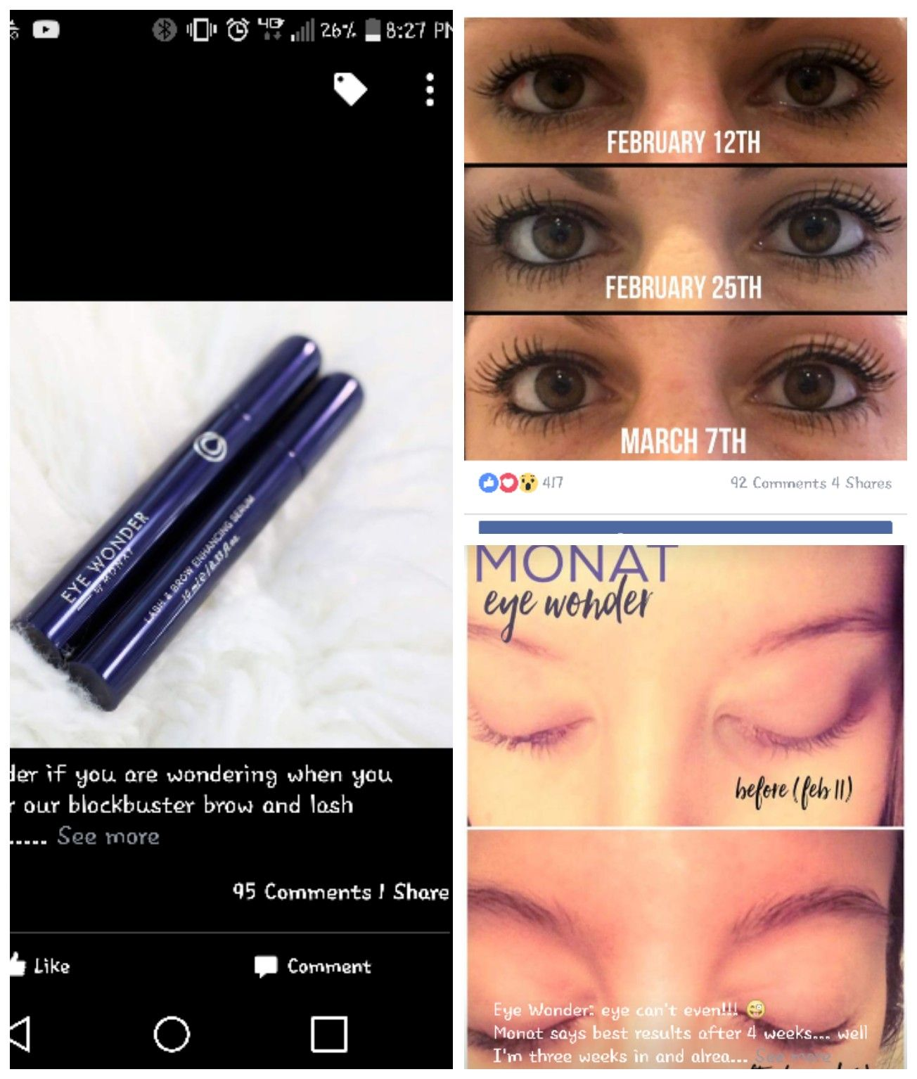 eceefbef642 Lash and Eyebrow serum. For longer, thicker lashes and help grow brows...be  eye-dolized with EYE WONDER by MONAT www.mymonat.com/corabalbin