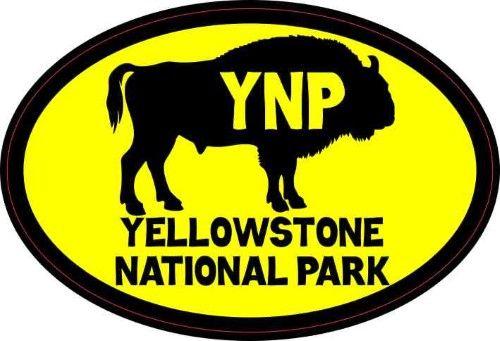 4 5inx3in yellow buffalo yellowstone national park sticker bumper stickers