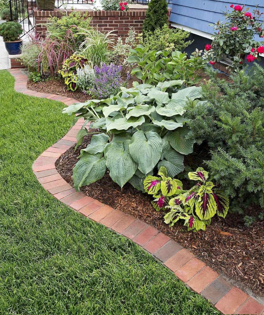 36 Simple Cheap Diy Garden Bed Edging Ideas For Your Garden Brick Garden Edging Brick Garden Garden Edging