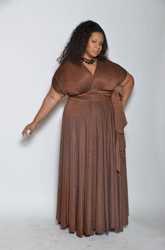 Plus Size Convertible Wrap Dress Carolina By Wilbourn Sisters