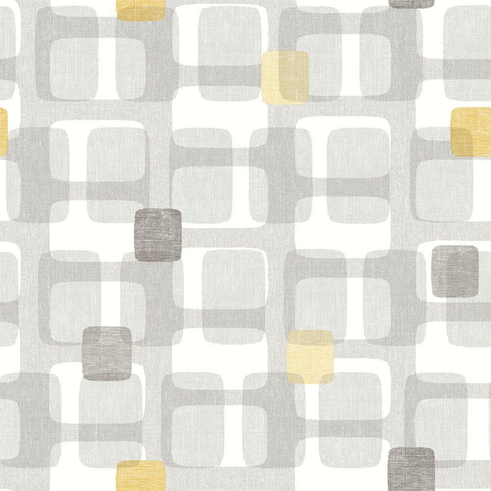 Retro Block Ochre in 2020 Grey orange wallpaper, Orange