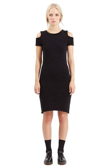 TOPSHOP Boutique Cold Shoulder Knit Dress available at #Nordstrom