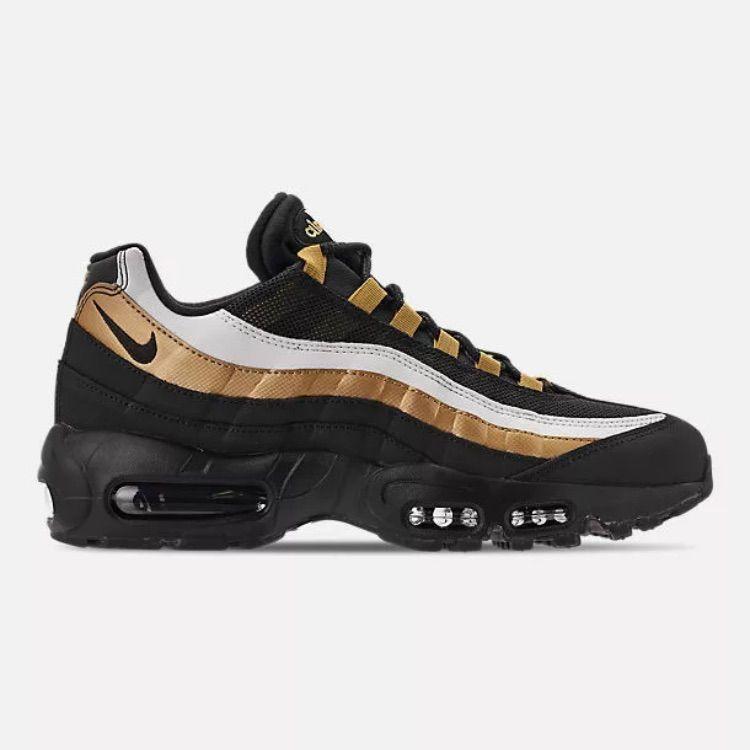 Nike Shoes Nike Air Max 95 Og At2865 002 Blackmetallic Gold