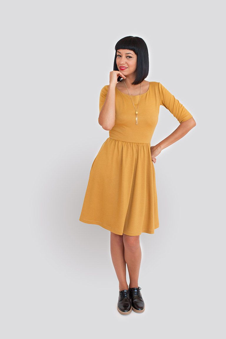 Moneta from Colette patterns. It very much reminds me of the Nicole ...