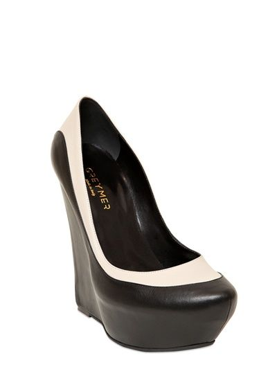 140MM TWO TONE CALFSKIN WEDGES