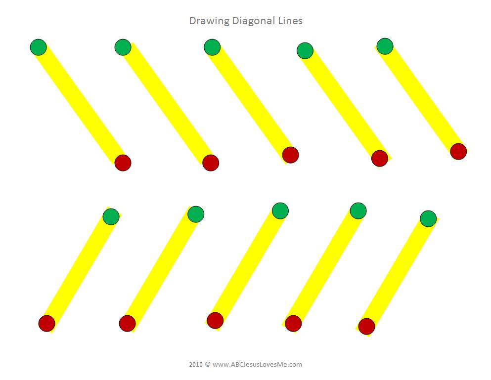 Diagonal Lines Worksheet Writing Fine Motor