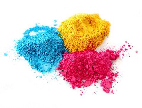 Cyan Magenta Yellow Powder... CLOSE!
