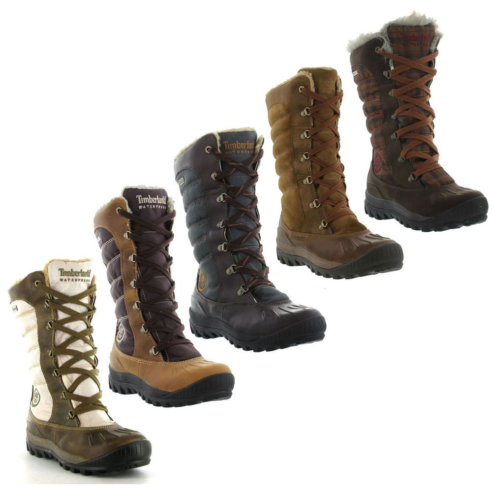 Timberland Mount Holly Tall Lace Waterproof Boots Genuine Womens Sizes UK 4  - 8