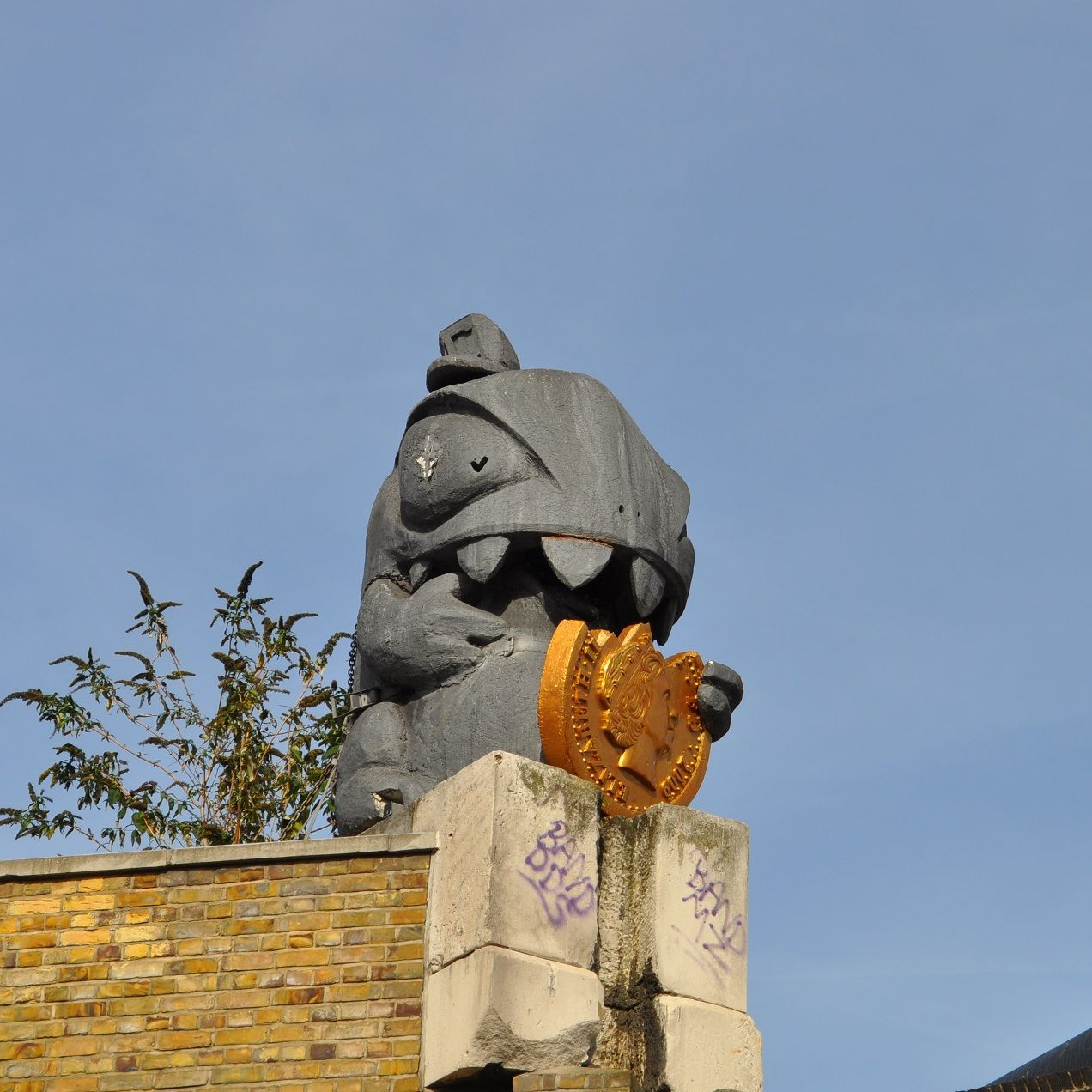 "Ronzo. ""CRUNCHY. The Credit Crunch Monster. 2008-2010. Official mascot of the global recession"""