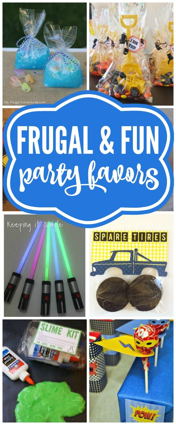 Budget Birthday Favor Ideas - Pretty My Party - Party Ideas