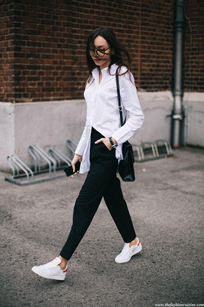 4ec2ed888e6 Stan Smith • The Fashion Cuisine   BLACK AND WHITE in 2019   Fashion ...