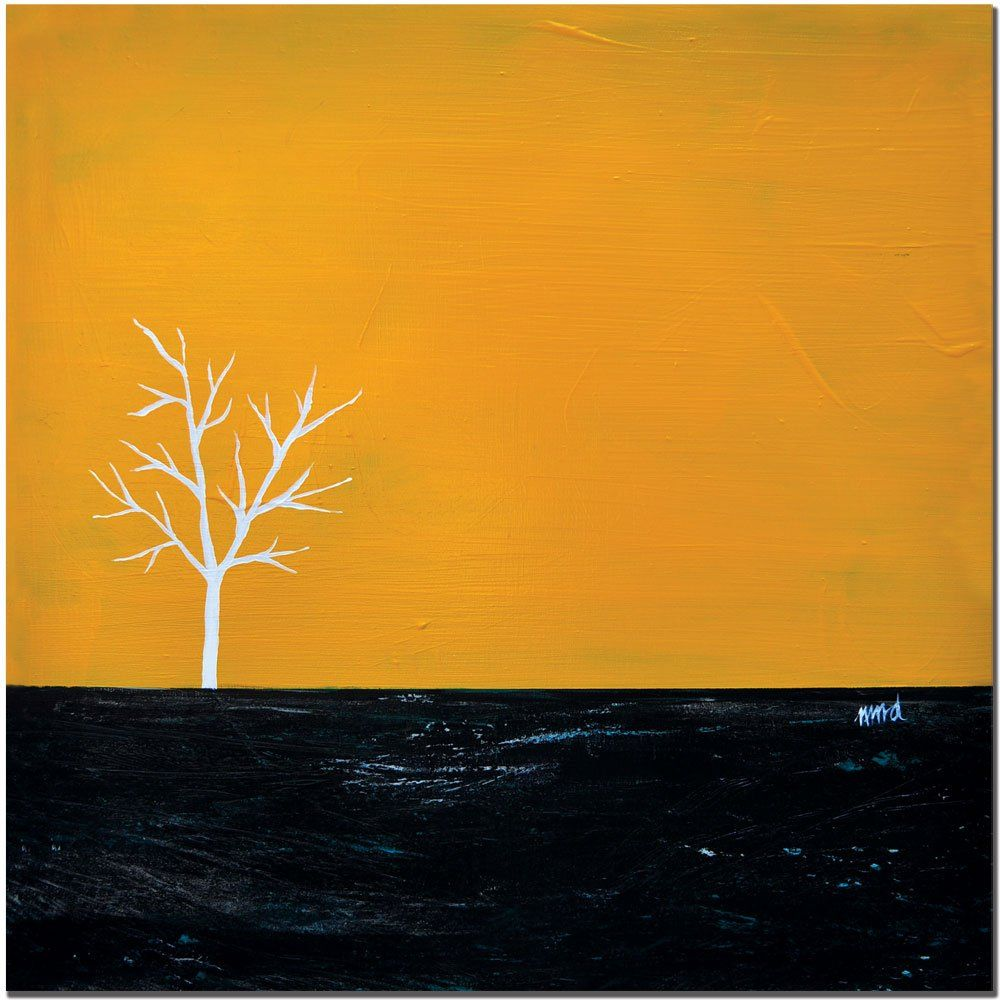 Trademark Fine Art Yellow on White Series by Nicole Dietz Canvas ...