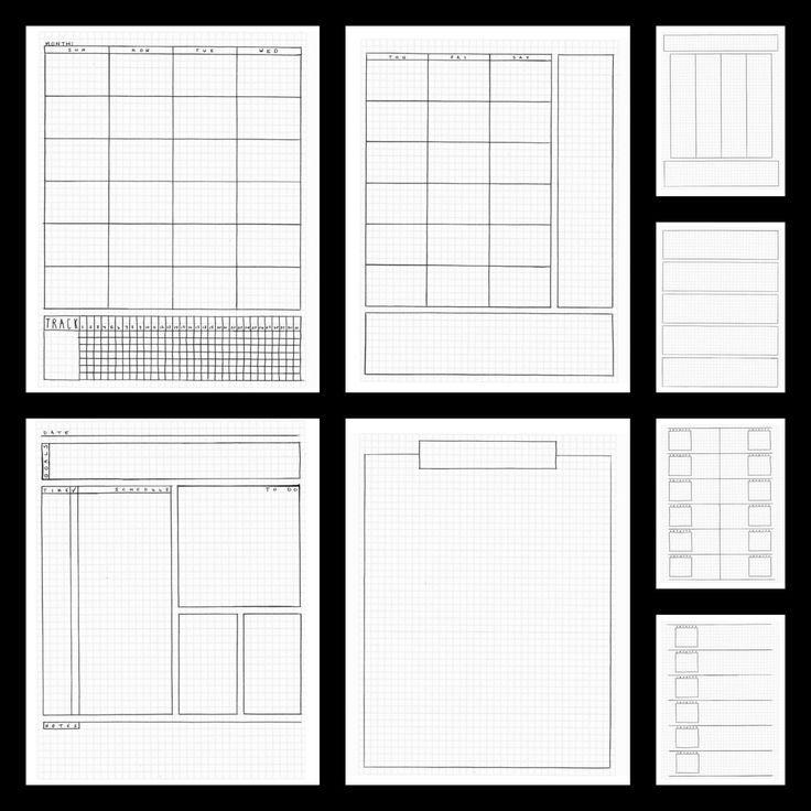 Bullet Journal Planner Pages Printable by BlacklineMasters | Bullet ...