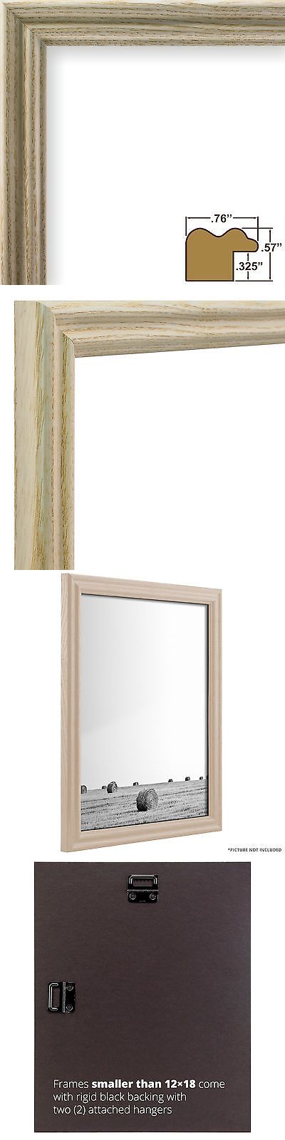 Frames 79654: Craig Frames Wiltshire Ash 200, White Hardwood Picture ...